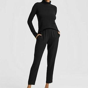 Black turtleneck wool sweater